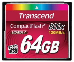 Карта памяти Transcend Compact Flash 800x 64Gb (TS64GCF800)