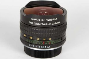 Объектив Зенит МС Зенитар-K 16mm F/2.8 Fisheye для Pentax